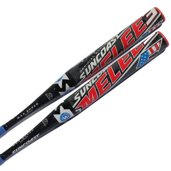 Suncoast Melee3 Senior Softball Bat, 1-Piece, 13″ Barrel, Balanced SM3SB