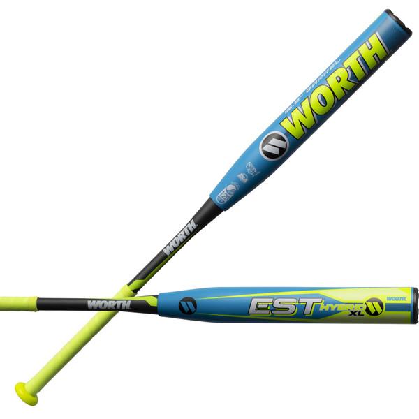 """2019 Worth EST Hybrid 12.5"""" XL Comp USSSA Slowpitch Softball Bat WHY12U"""