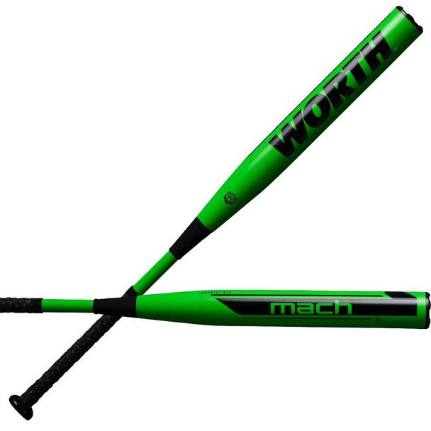 """2021 Worth Mach 1 XL 13.5"""" USA/ASA Slowpitch Softball Bat WM21MA"""
