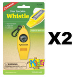 Coghlan's Four Function Whistle for Kids (2 Pack)