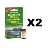 Coghlan's Emergency Drinking Water Tablets (2 Pack of 50 Tablets)