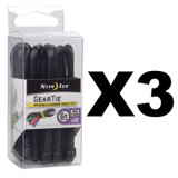"Nite Ize Gear Tie ProPack 6"" Black (3-Pack of 12)"