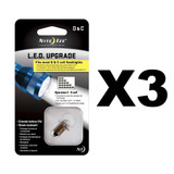 Nite Ize LED Upgrade Kit for most C or D Cell Flashlights (3-Pack)