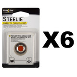 Nite Ize Steelie Magnetic Phone Socket (6-Pack)