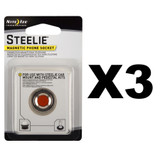 Nite Ize Steelie Magnetic Phone Socket (3-Pack)