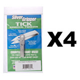 Uncle Bill's Sliver Gripper - Stainless Steel Keychain (4-Pack)