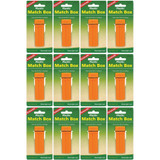 Coghlan's Plastic Match Box Orange Waterproof Case w/Flint Striker (12-Pack)