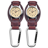Dakota Watch Company Field Clip Hanger Watch Brown Leather (2-Pack)