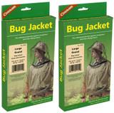 Coghlan's Bug Jacket Large Black Unisex Flame Retardant Lightweight Net (2-Pack)
