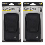 Nite Ize Clip Case Cargo Holster X-Tall Black Rugged Nylon Phone Case (2-Pack)