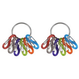 Nite Ize S-Biner KeyRing Stainless Keychain/ Colorful Plastic Biners (2-Pack)