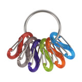 Nite Ize S-Biner KeyRing Stainless Keychain/ Colorful Plastic Biners (4-Pack)