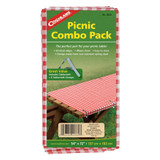 "Coghlan's Picnic Combo Pack 54""x72"" Tablecloth +6 Spring Steel Clamps (12-Pack)"