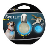 Nite Ize SpotLit LED Collar Light Blue Carabiner Pet Locator Light Glows(4-PACK)