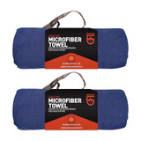 Gear Aid McNett Tactical Ultra Compact Microfiber Towel Navy Blue Large (2-PACK)