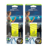 Nite Ize SlapLit Rechargeable Slap Wrap Neon Yellow LED Armband Safety (2-PACK)