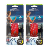 Nite Ize SlapLit Rechargeable Slap Wrap Red LED Armband Safety Biking (2-PACK)