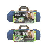 Gear Aid McNett Tactical Ultra Compact Microfiber Towel Navy Blue X-Large 2-PACK