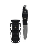 """GEAR AID Akua Blunt Tip Paddle Knife with Serrated Blade and Sheath, 3"""" Blade"""