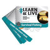 UST Survival Fishing Waterproof/Durable Learn & Live Cards w/ Attached Grommet