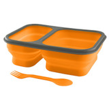 UST Brands FlexWare Orange Lightweight and Collapsible Premium Camping Mess Kit