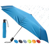 Lewis N. Clark Travel Umbrella, Teal - Windproof, Compact and Lightweight