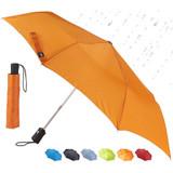 Lewis N. Clark Travel Umbrella, Orange - Windproof, Compact and Lightweight