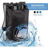 Lewis N. Clark WaterSeals Locking Backpack, Black Waterproof Bag with Ripstop