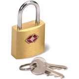 Lewis N. Clark Mini Brass Square TSA Lock: Padlock for Luggage, Suitcase, Purse