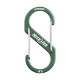 Nite Ize S-Biner Aluminum, Dual Carabiner for Keys, EDC and Gear, Size #3, Olive