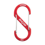 Nite Ize S-Biner Aluminum, Dual Carabiner for Keys, EDC and Gear, Size #4, Red