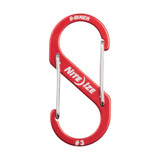 Nite Ize S-Biner Aluminum, Dual Carabiner for Keys , EDC and Gear, Size #3, Red