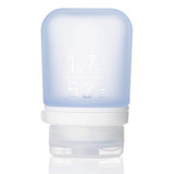 humangear GoToob+ Silicone Squeeze Bottle Small (1.7oz|44ml), Blue - Food Safe