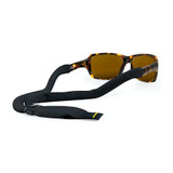 Croakies Cotton Suiter Black Regular Adjustable Secure Eyewear Retainer Strap
