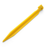 """Coghlan's ABS Tent Pegs 9"""" Yellow Plastic Rugged Non-Slip Tent Stake SINGLE"""