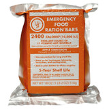 UST 2400 Calorie Apple-Cinnamon Emergency Food Ration Bars with Easy Storage
