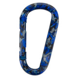UST Blue Camo Durable/Compactable Snappy Carabiner with Spring-Loaded Clip