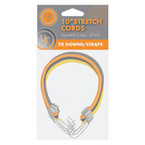 """UST Assorted 10"""" Multi-Use Outdoor and Survival Elastic Stretch Cord (4-Pack)"""