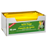 """Coghlan's ABS Tent Peg 12"""" Yellow Plastic Rugged Non-Slip Tent Stake (100-Pack)"""