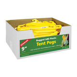 """Coghlan's ABS Tent Pegs 9"""" Yellow Plastic Rugged Non-Slip Tent Stakes (100-Pack)"""