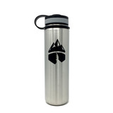 Campsite Essentials Wide Mouth Insulated Stainless Steel Water Bottle, 22oz