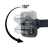 Nite Ize Radiant 170 USB Rechargeable Headlamp, White/Red Task Light - Blue