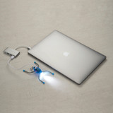 Nite Ize BugLit Rechargeable Micro Flashlight - Bright Blue/Charcoal, Task Light