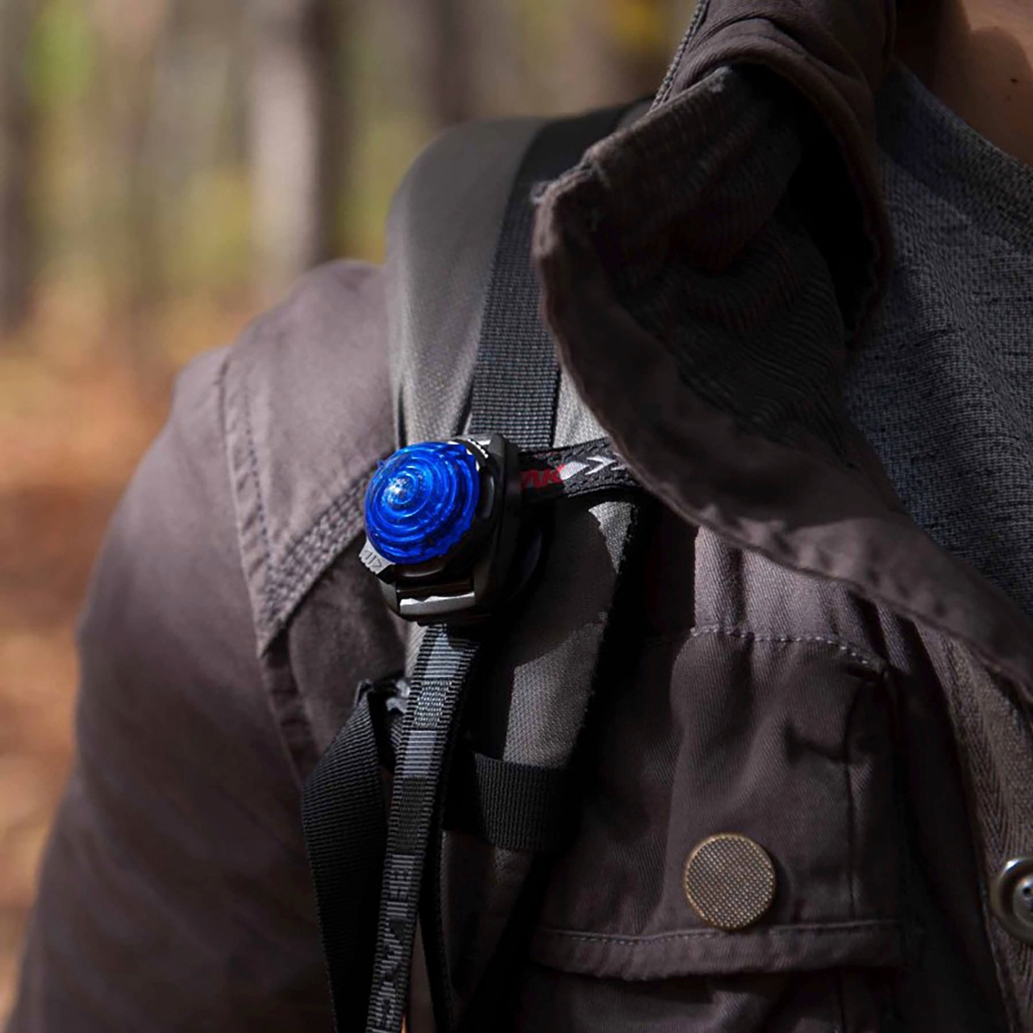 ADVENTURE LIGHTS GUARDIAN EXPEDITION LIGHT CAMPING SAFETY BELT CLIP FLASH BLUE