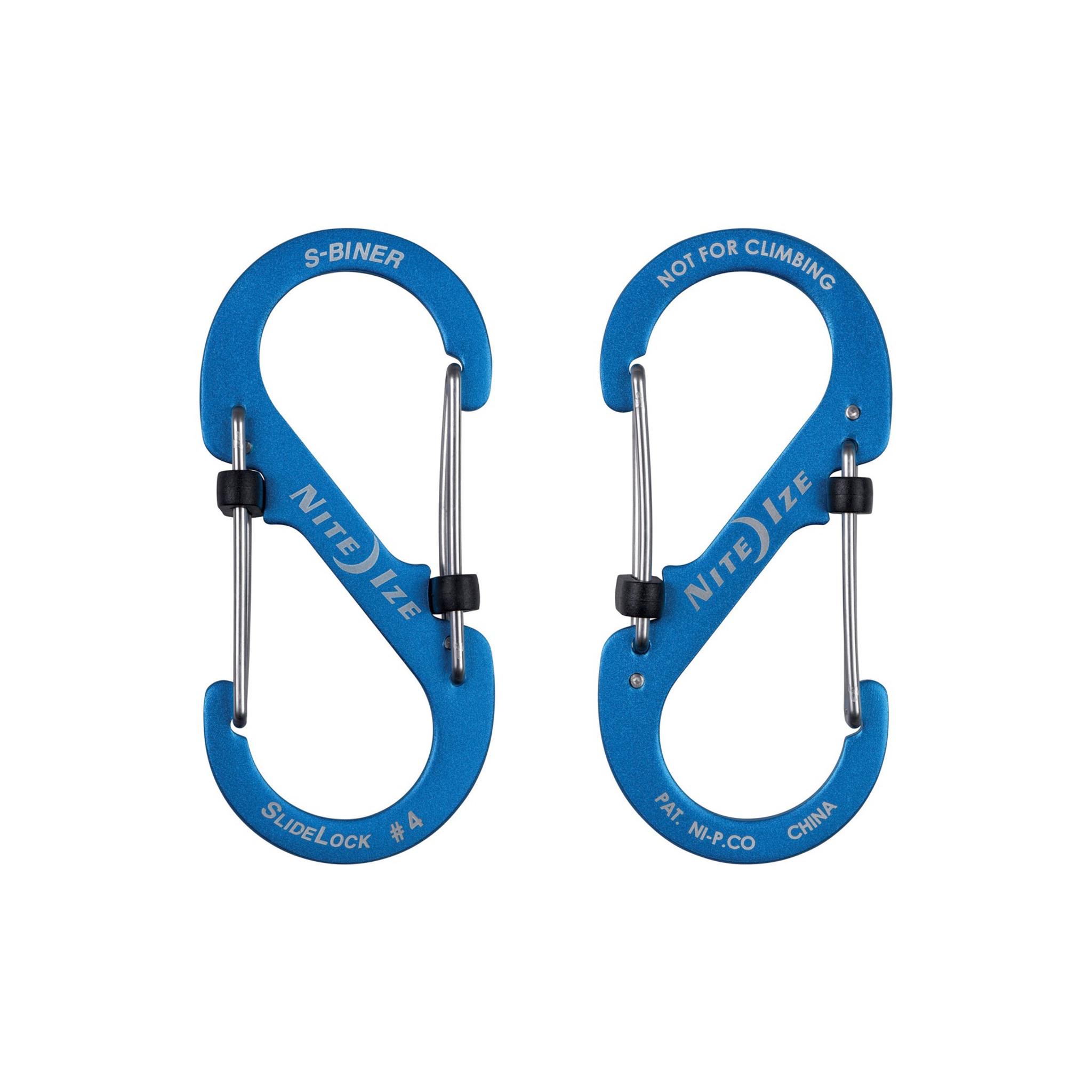 Nite Ize S-Biner Slidelock Aluminum #4 Blue - Jay's Outdoor Supply