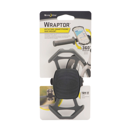 Nite Ize Wraptor Rotating Smartphone Bar Mount Black Phone Holder Bike (4-Pack)