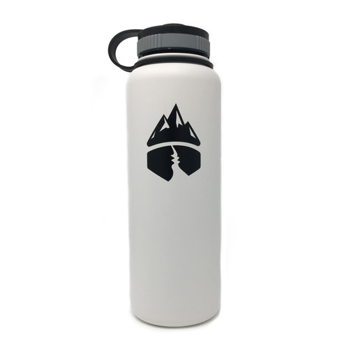 Campsite Essentials 40oz Wide Mouth Insulated Bottle, Avalanche White (2-Pack)