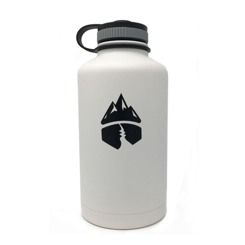 Campsite Essentials 64oz Wide Mouth Insulated Bottle, Avalanche White (2-Pack)