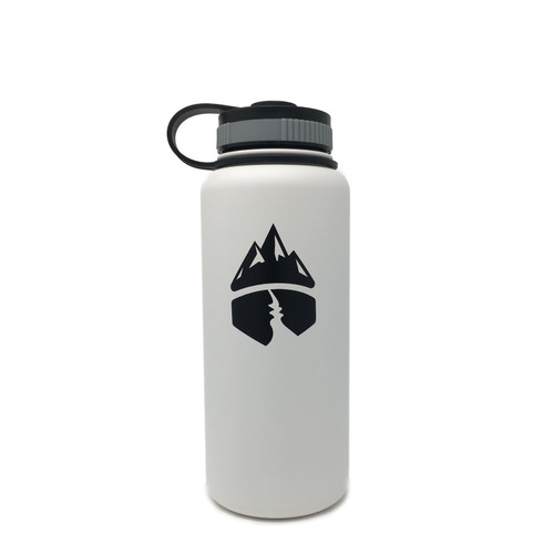 Campsite Essentials 32oz Wide Mouth Insulated Bottle, Avalanche White (2-Pack)