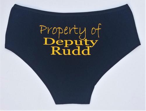 Personalized Property of Deputy Panties